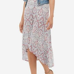 The Limited high-low patterned skirt WITH POCKETS!